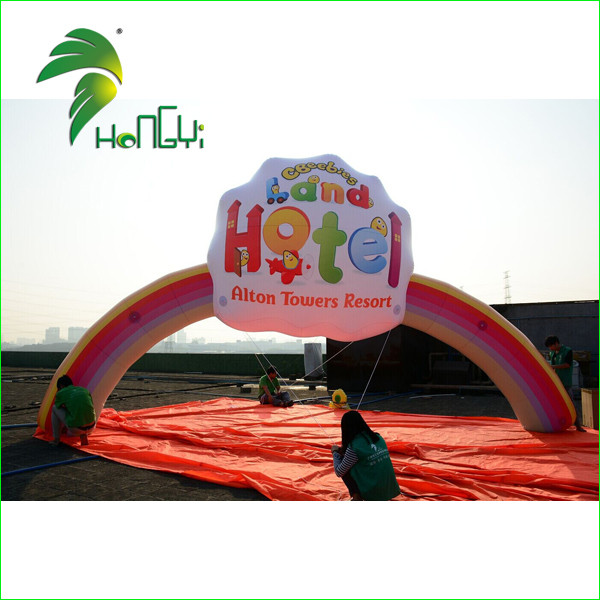 Outdoor Christmas Arch , Inflatable Santa Arch , Cheap Inflatable Rainbow Arch For Hotel Decoration