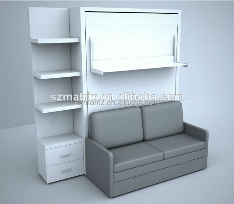 space saving furniture space saving wall bed with sofa. Black Bedroom Furniture Sets. Home Design Ideas