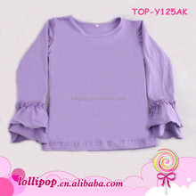 2015 Newest Girls wholesale boutique clothing, Girls Boutique For Winter, Ruffle T-shirt Long Sleeves Children Boutique Clothes