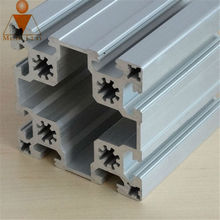 Industry aluminum t-slot v-slot hollow extrusion profile 4040 4545 5050 whole dimmension