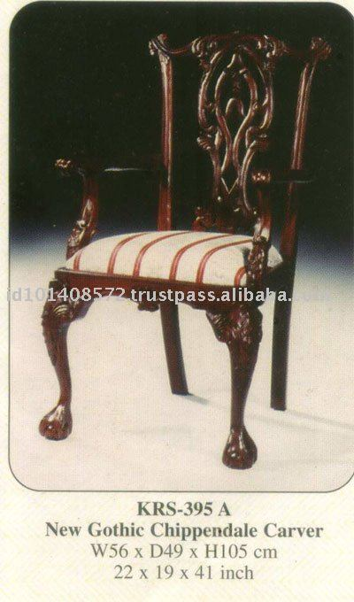 New Gothic Chippendale Carver Mahogany Indoor Furniture