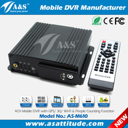 4CH 3G GPS Mobile DVR Tracker with 4 Cameras