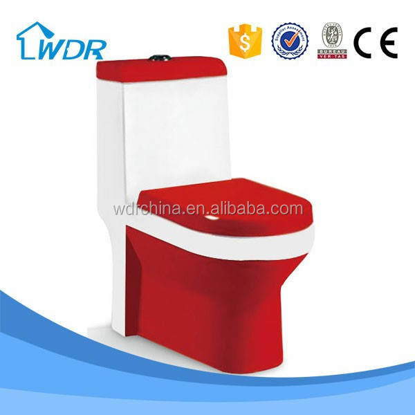 S-trap bathroom one-piece combustion sitting wc water closet toilet room design