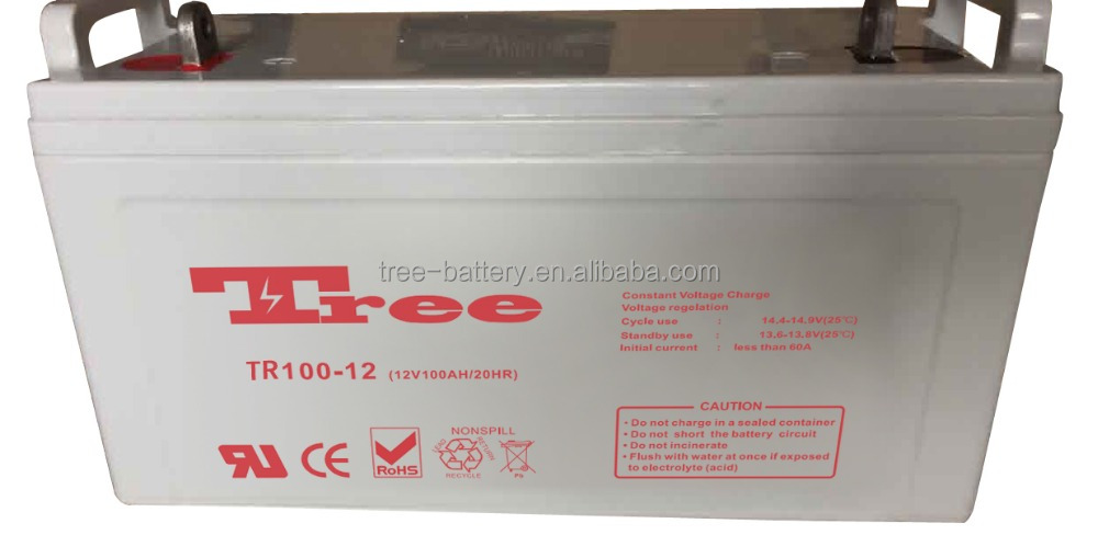 Free maintenance 12V 100AH dry batteries for ups system