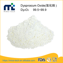 Top selling rare earth compound purity 99.9%-99.95% white dysprosium oxide Dy2O3 exporting