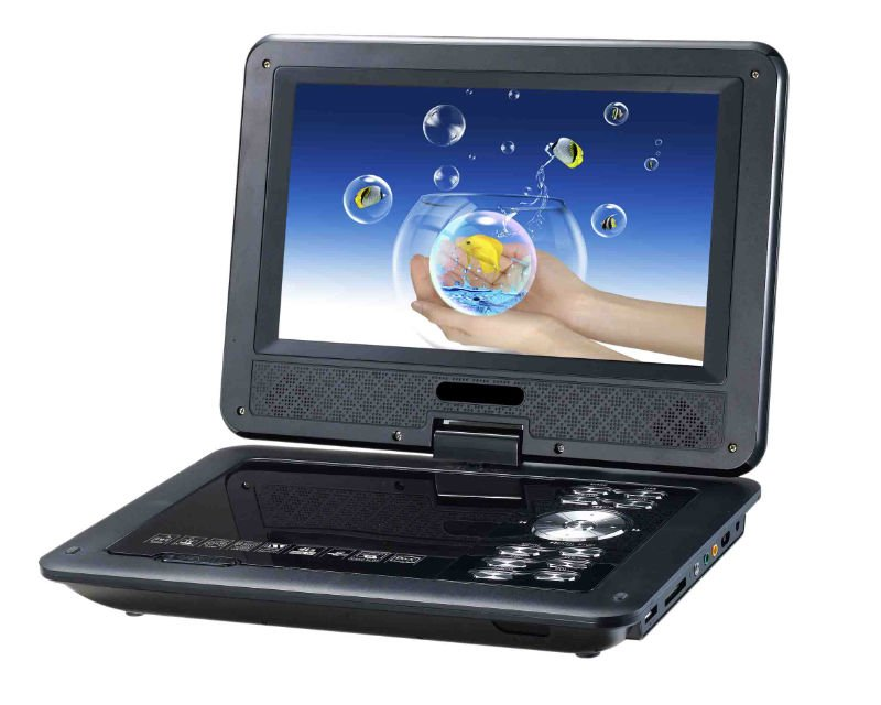 9 inch screen portable dvd player with game function