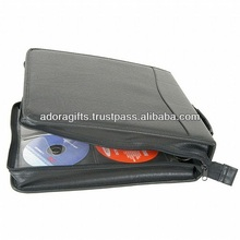 ADACD - 0030 cd dvd carrying case bag with your design / unique leather cd cases / custom made car cd case with handle