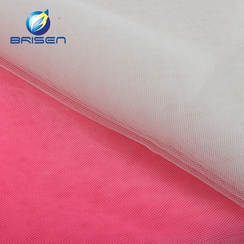 fujian 20d high quality 100% polyester wedding dress fabrics wholesale