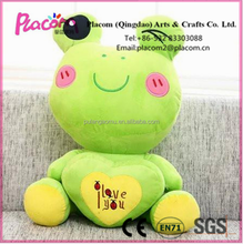 2016 Best selling Favorite Cute Customize Valentine's gifts and gifts Wholesale Plush toy Frog with heart