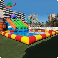 Outdoor inflatable water park games,inflatable aqua park with slide,amusement park with pool