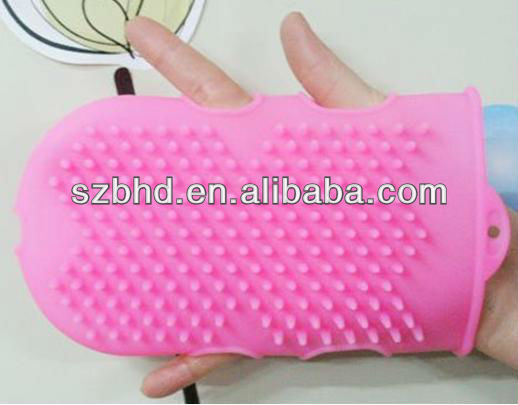 silicone cleaning brush for body,silicone bath glave
