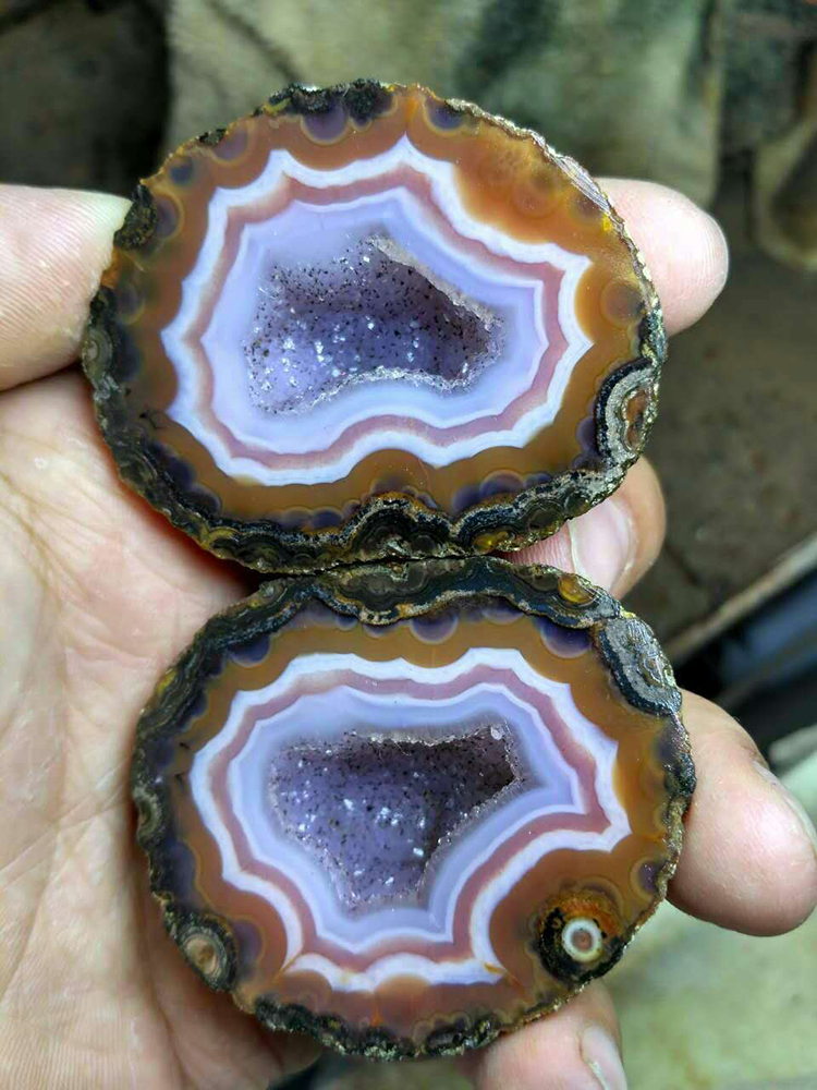 Special and Unique Beipo Mine Agate Rough (Unpolished) from Xuanhua China