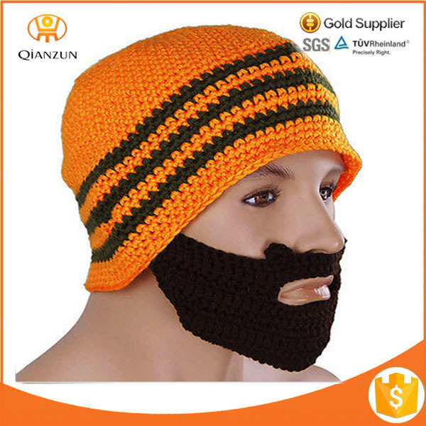UNISEX WINTER KNIT CROCHET BEARD BEANIE MUSTACHE FACE MASK SKI WARMER HAT CAP