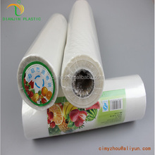 Factory directly sale clear HDPE plastic flat food bags on roll for shopping made in China
