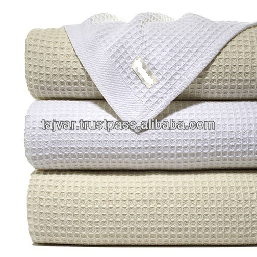 Cotton Waffle Weave Blankets