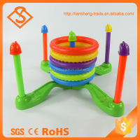 Colorful intelligent throw ring game set healthy plastic kid toy