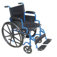 folding wheelchair with mag wheels
