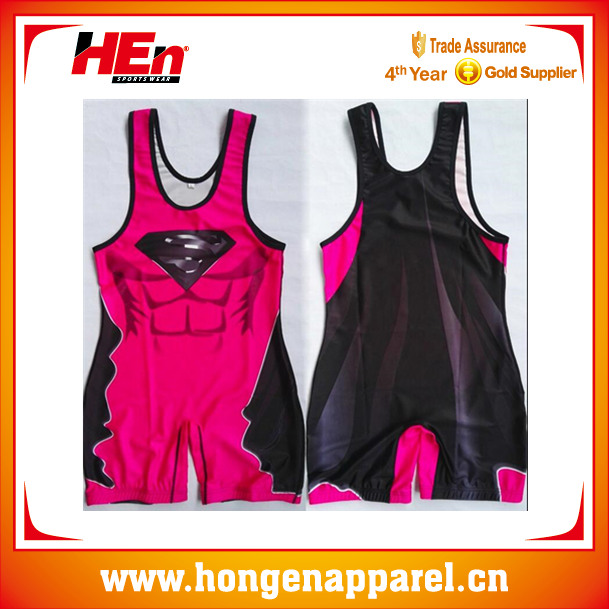 Bright wrestling singlets custom wholesale funny wrestling wear