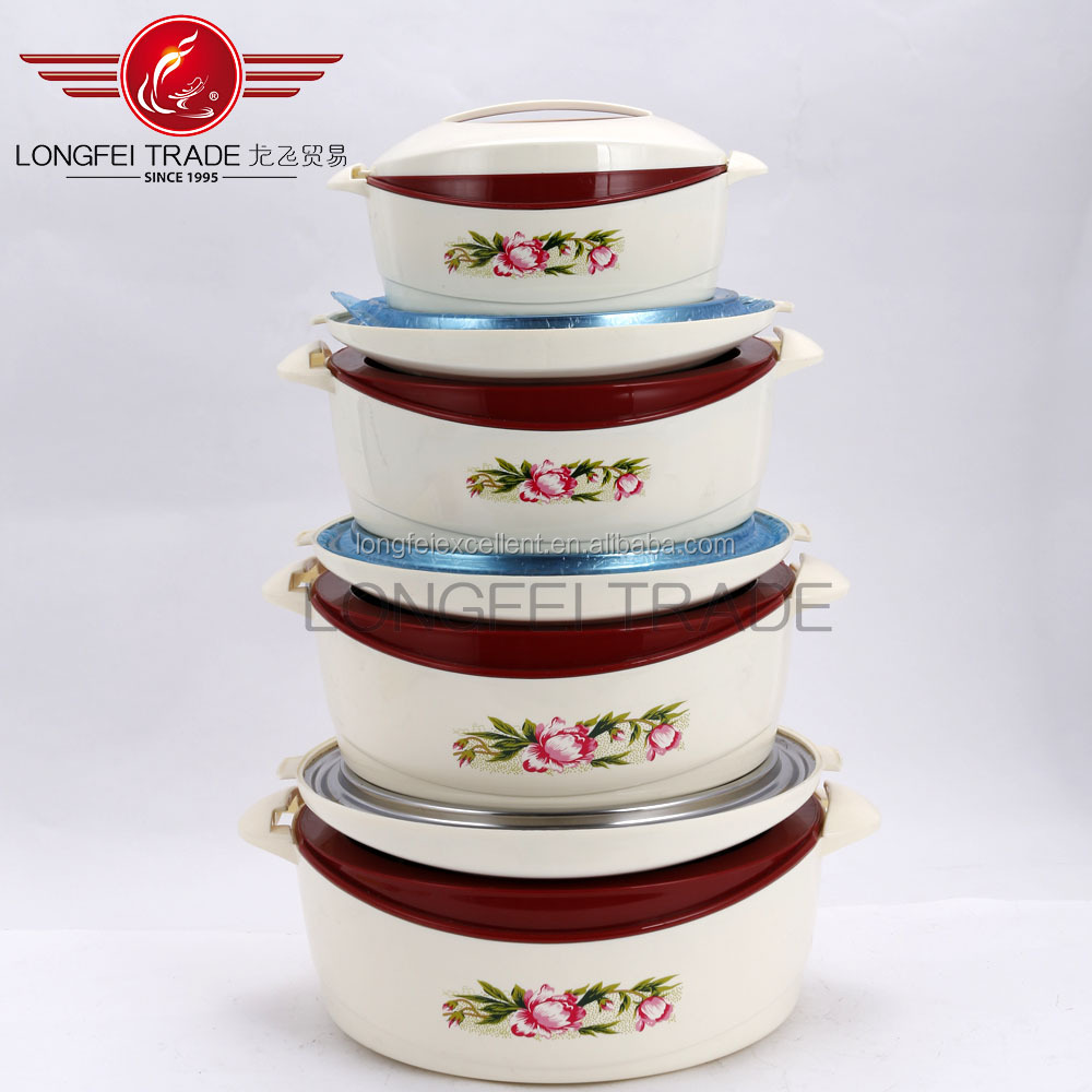4pcs Best Quality food grade plastic heat preservation barrel with lid