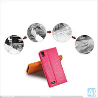 New product flip leather slim case for huawei ascend p6