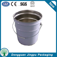Custom clear paint tin can with lid chemical Tin box