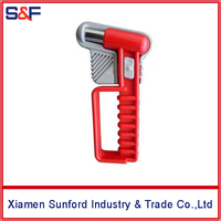 Vehicle emergency first aid kit safety hammer