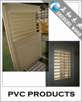 Varnished SGS Certification UPVC Shutters