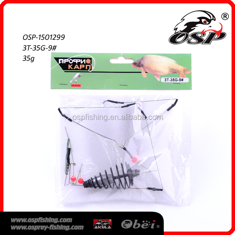 Fishing Tackle Accessories Bait Cage Carp Fishing Lure Swivel With 3 Line Hooks Carp Feeder