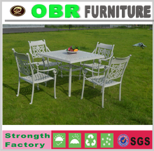 hot sale 4pcs outdoor aluminum frame resin wicker furniture