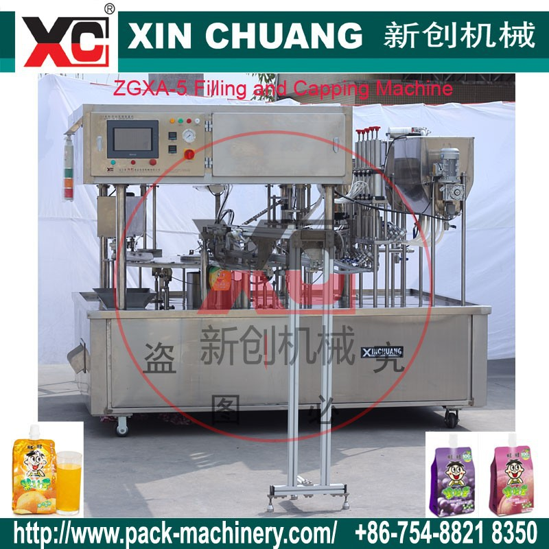 Shantou XC liquids Automatics Filling Machine for Fruit Jelly/Juice /chocolate /flavored juice