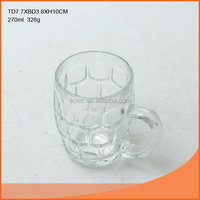 Bottom price new products 270ml aqua blue beer glass bottle