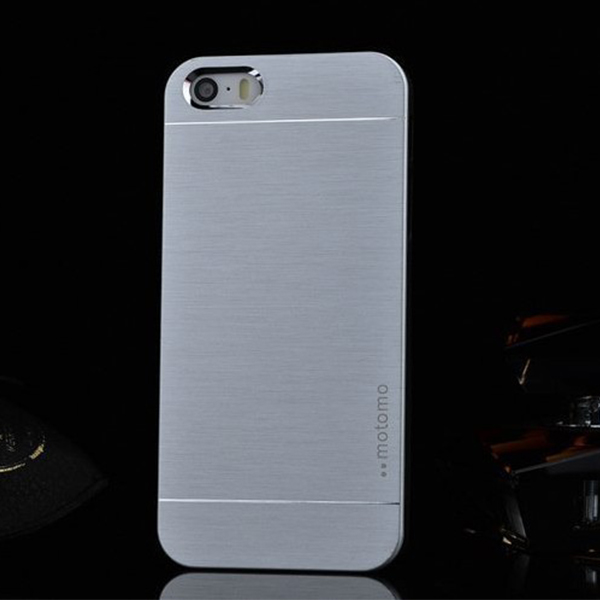New Stylish Flat Hard Back Brushed Aluminium Case Cover For Apple iPhone 5 5s