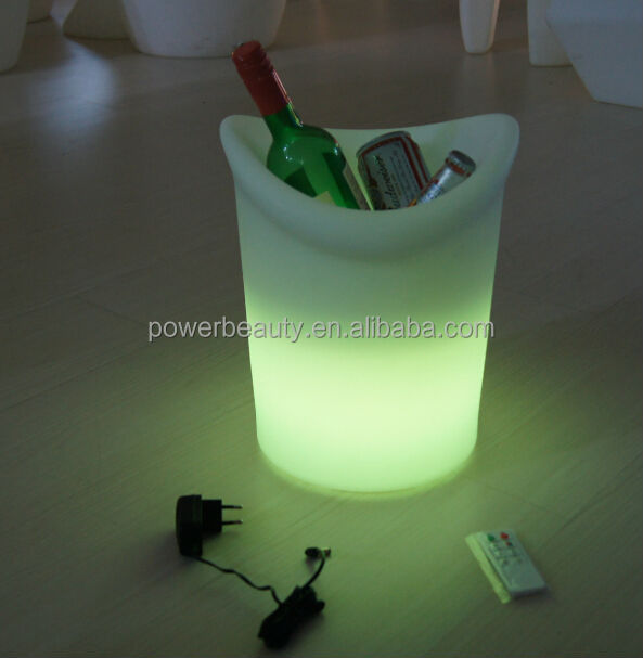 bar decor led ice wine buckets led ice cooler bucket