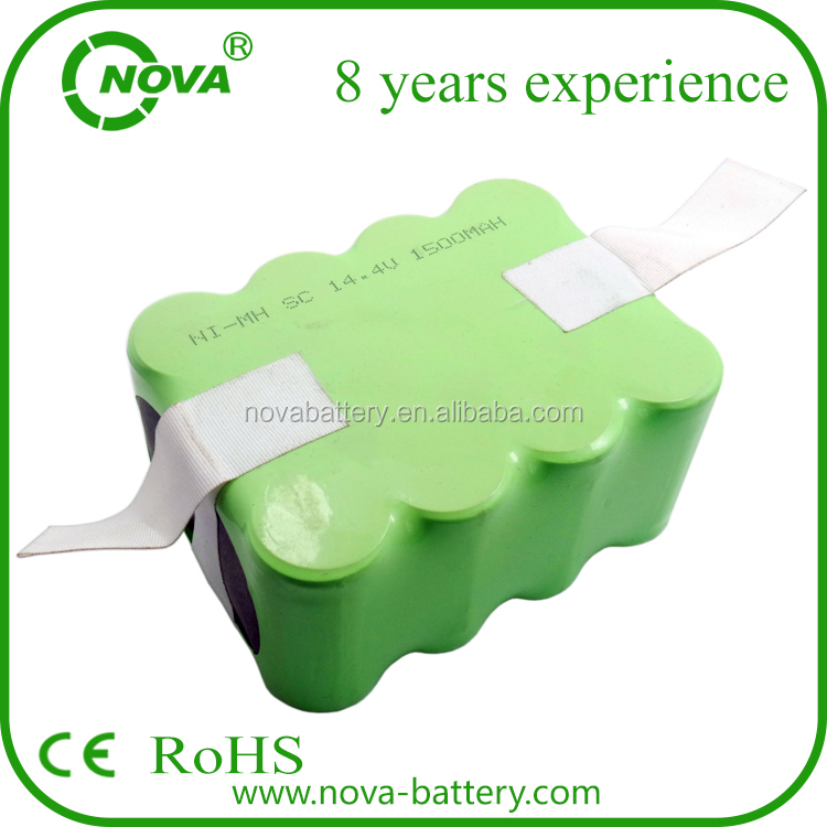 Factory wholesale price Rechargeable ni-mh batteries sc 1500mah 14.4v vacuum cleaner battery