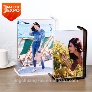 Wholesale connecting high quality transparent plexiglass mini picture economic clear 5x7 magnetic acrylic photo frame
