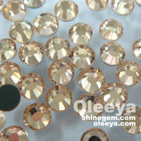 Hot Sale!No.1 Quality iron-on rhinestone,It Peach color,SS10,Facrity Directly sale Hot Fix Rhinestones with different colors