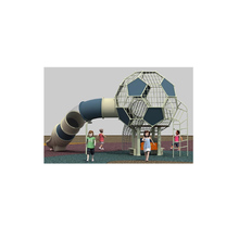 New ball shaped safety children outdoor playground with curved slides