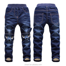 2017 new style best selling top design autumn winter baby pants children long pants trousers baby jeans thermal pants