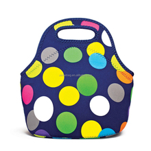 Wholesale eco friendly customized neoprene lunch bag with full printing