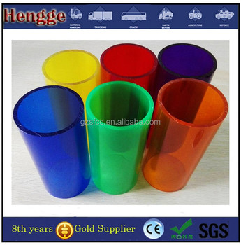 casting extruded red acrylic tube opal plexiglass tube