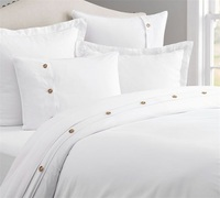 Hotel Bed Linen 100 Cotton White Quilt Duvet Cover Twin/Full/Queen/King