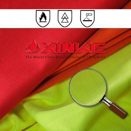 non-toxic made in china cotton polyester flame proof satin fabric for welding jacket