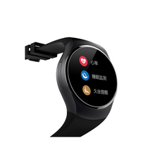 New fashion design bluetooth MTK2502 Heart Rate monitor smart watch IPS Round touch screen wifi wrist watch cell phone