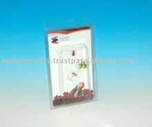 Clear Plastic PVC Clamshell with Custom Logo Insert Card