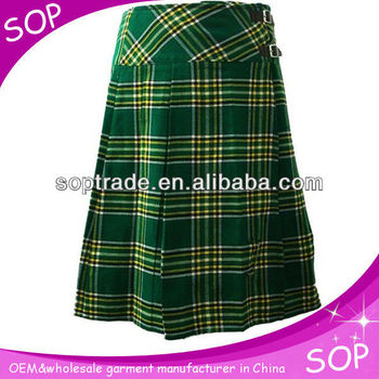 Black Stewart~Red Black Plaid Pleated School Girl Skirt~Small to Plus Size~Cosplay pleated Skirt Custom make pleated skirt @sohoskirts.