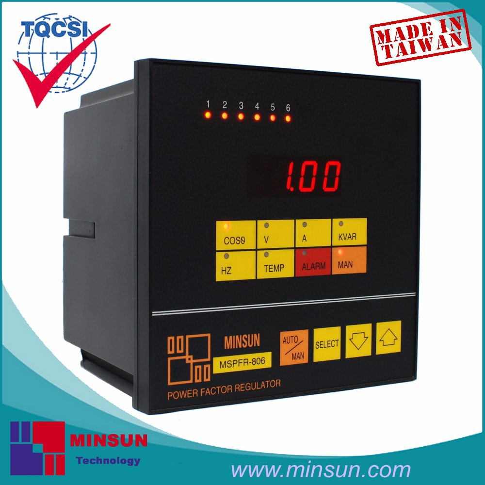 MSPFR-806 Intelligent Multifunctional PF Controller with KVAR Alarm Function