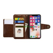 Luxury multifunction leather wallet case with photo frame for iphone X