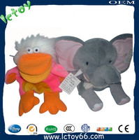 Fancy christmas gift Plush Animals soft hippo ephant kids Hand Puppets for sale