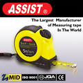 China factory 2m 3m 5m 7.5m 10m Rubber covered retractable steel tape measure