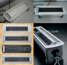 Aluminum alloy conference system desktop socket and cable cubby